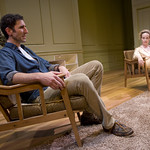Sean Fortunato (Henry) and Natasha Lowe (Charlotte) in THE REAL THING at Writers Theatre. Photos by Michael Brosilow.