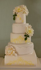 Golden Wedding Anniversary Cake photo by Sweet Tiers Cakes (Hester)