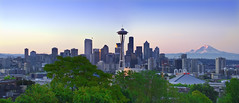 Good Morning Seattle - Panorama photo by David Shield Photography