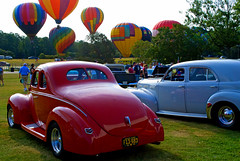 Color is in the Air - Classic Cars and Hot Air Balloons photo by StGrundy