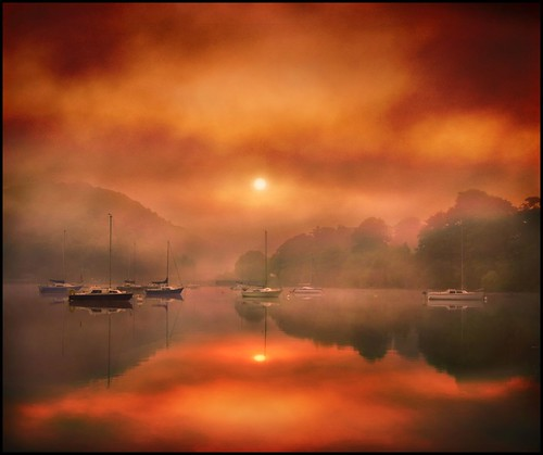 Fiery sunrise on Ullswater photo by adrians_art