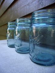 Aqua Blue Vintage Ball Pint Mason Jars photo by ToryLarson08