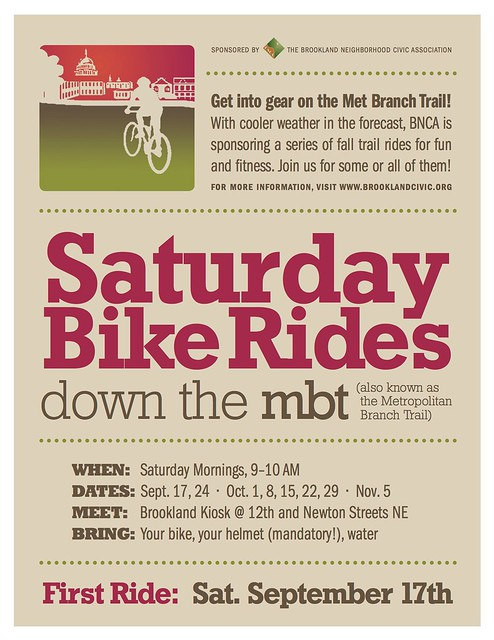 A New Way to Enjoy the Met Branch Trail this Fall