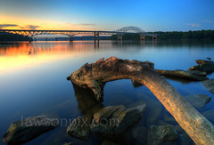 Hatem Bridge at Sunset photo by lawsonpix