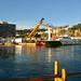 Rescat d'una barca enfonsada al port de Sant Feliu de Guíxols (Baix Empordà)