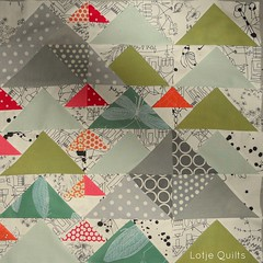 flying geese at 3 levels photo by Lotje quilts