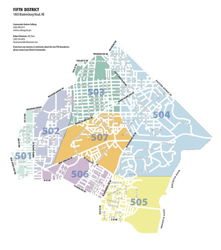 MPD 5D Police Boundary Realignment Map