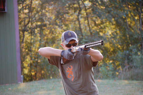 2538fe021ac Logan wearing his new Rudy Project shooting glasses.