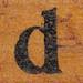 rubber stamp handle letter d