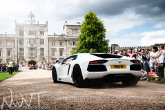 Wilton House Supercar Meet And Classic Car Rendezvous 2011 White Lamborghini Aventador Going Down The Drive photo by NWVT.co.uk