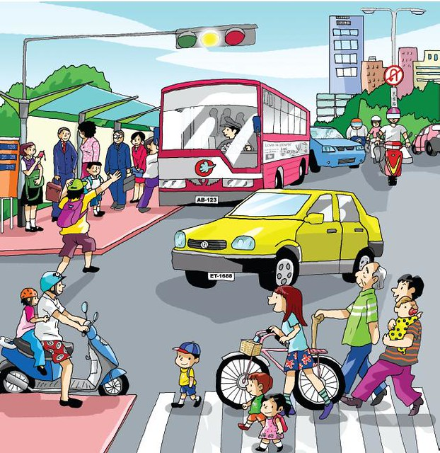 客語能力認證初級考試_看圖說故事_08公車站前