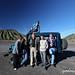 Индонезия - французские попутчики на фоне вулкана Бромо