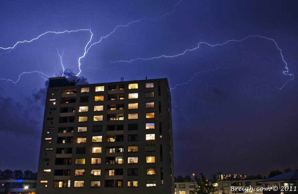 Lightning Over Lombardijen