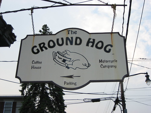 Ground Hog coffee house and motorcyle company in Wappinger Falls