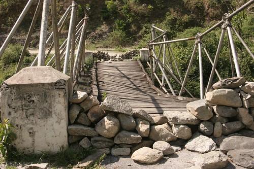 Uttaranchal Bridge, road from Munsiyari to Thal, May2006