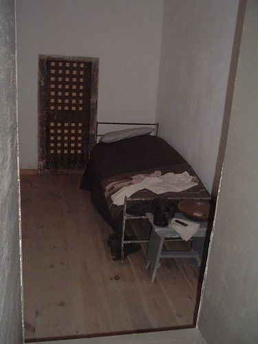 bed in reconstructed cell at Eastern State Penitentiary