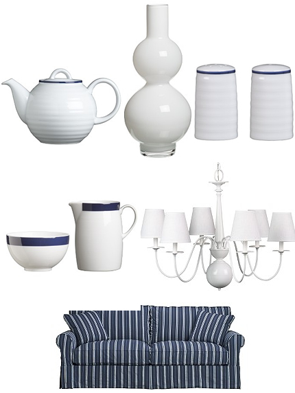 Crate + Barrell = Fresh Finds in Blue and White!