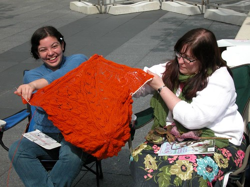 The orange shawl