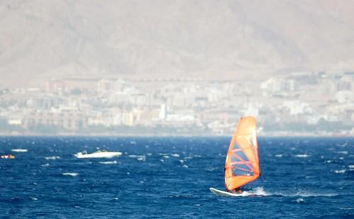 random windsurfer