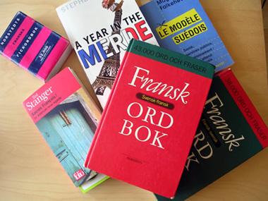 Böcker på bordet