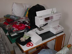 My messy sewing area