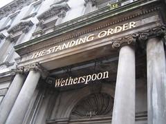 Exterior of Wetherspoons Standing Order, George St, Edinburgh