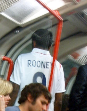 Rooney on the London Underground again