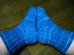My First Magic Loop Socks: One sock at a time