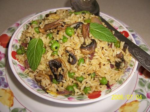 Mushroom Peas Pulov