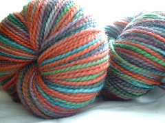 Handdyed sock yarn