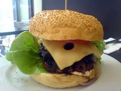 The MOS burger at Wannaburger on Edinburgh's Royal Mile