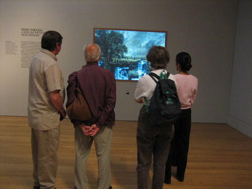 Visitors at the Tate inspect an Interactive Exhibit