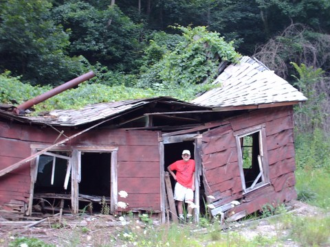 me in vine covered house