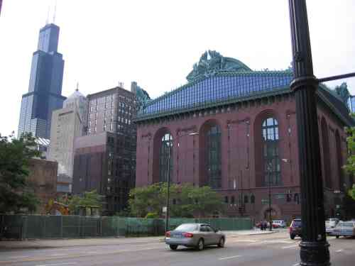 Sears Tower and Chicago Public Library