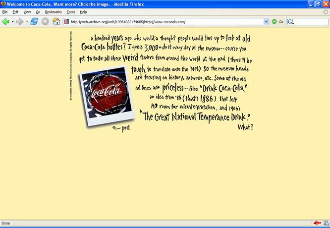 Coca-cola en 1996