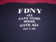 FDNY Memorial Tshirt Back