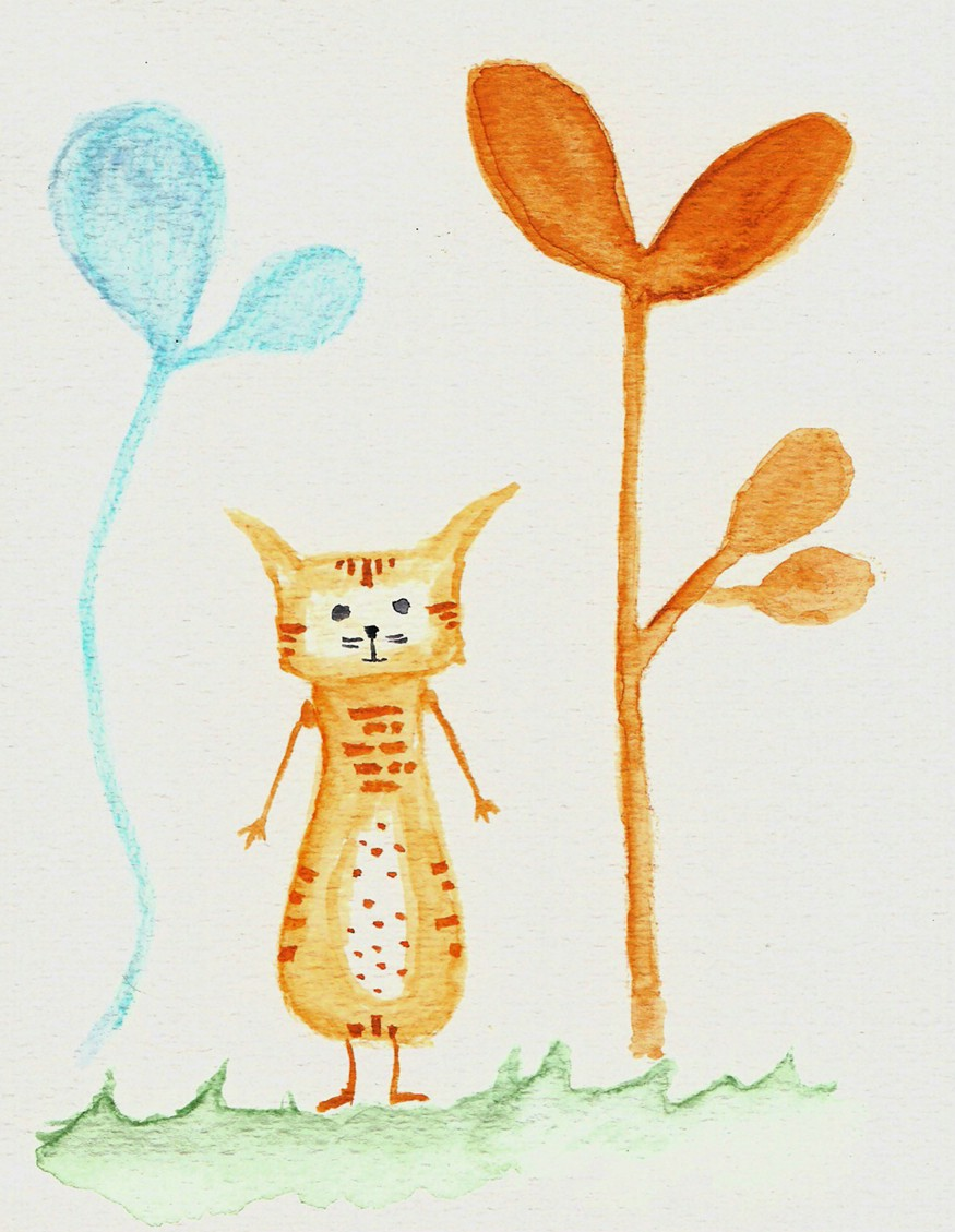 gato flor