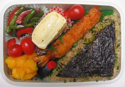 Fried shrimp nori lunch お弁当