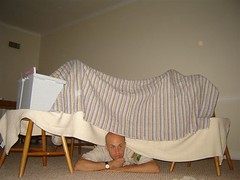 Dad Likes the fort too