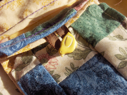 patchwork pouch detail