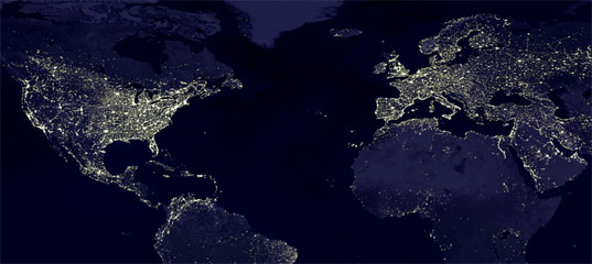 Light pollution, Nasa Image