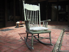 and an old rockingchair