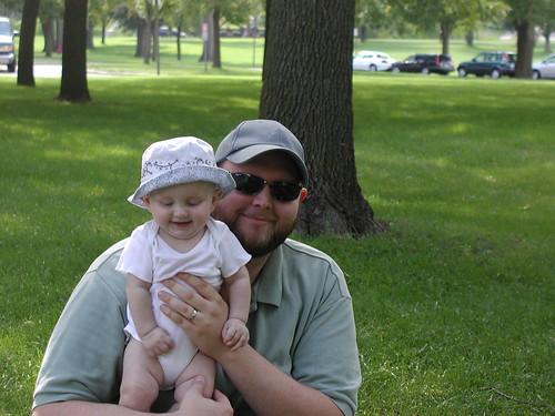 Daddy and Daughter by Lake Nokomis