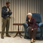 Erik Hellman (Walter) and Mary Ann Thebus (Marjorie) in MARJORIE PRIME at Writers Theatre. Photo by Michael Brosilow.