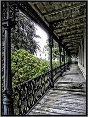 During a Rain Storm~ Parrott Hall ~ Geneva NY ~ Balcony photo by Onasill ~ Bill Badzo