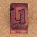 rubber stamp letter  u