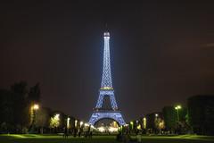 Blue Eiffel Tower photo by TheFella