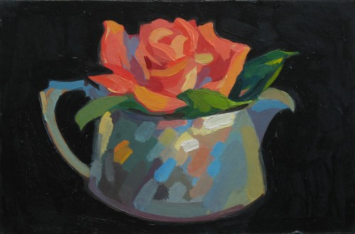 Grandiflora, 23x15cm, Oil on board