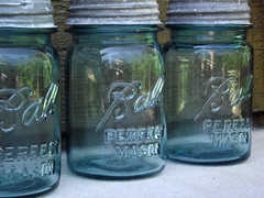 Aqua Blue Vintage Ball Pint Mason Jars photo by ToryLarson08