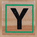 Rubber Stamp Letter Y